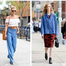 Моделите се обличат в деним