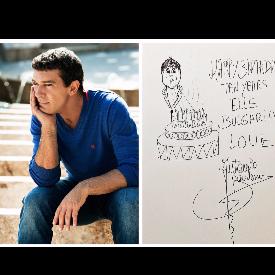 Антонио Бандерас поздрави ELLE България с рисунка
