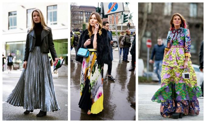 20 street style визии с дълга пола, които връщат женствената зима