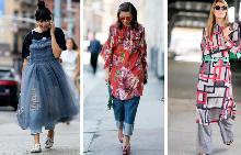 Как да носите рокля върху панталон?