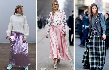 Как да носите пола с пуловер за пролетта