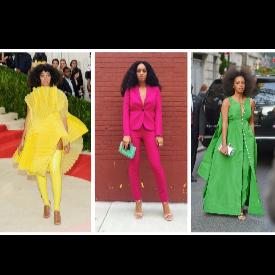 Искате ли да носите цветове като Соланж?