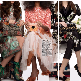 Стайлинг Benedetta Dell'orto, директор продукция и моден редактор Charlotte Deffe
