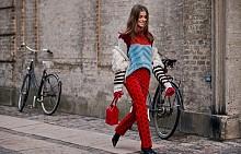 Един червен панталон – три начина за носене
