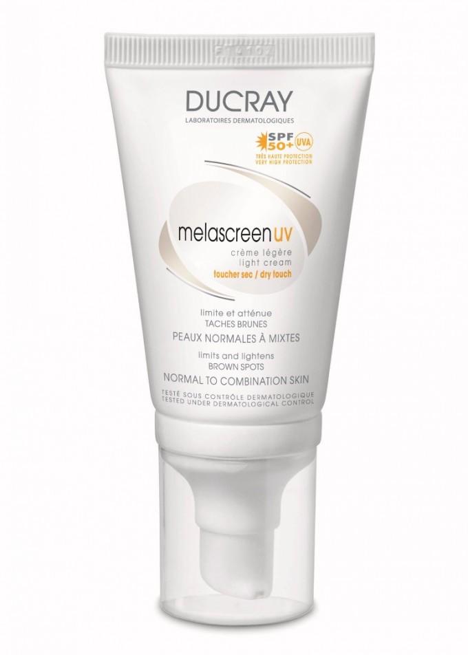 Дневен крем Melascreen на Ducray за коригиране на кафявите...