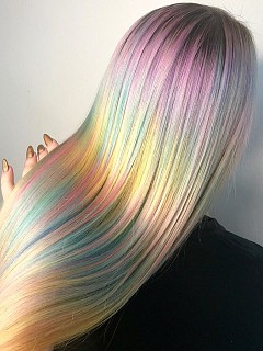 Калейдоскопични цветове за косата