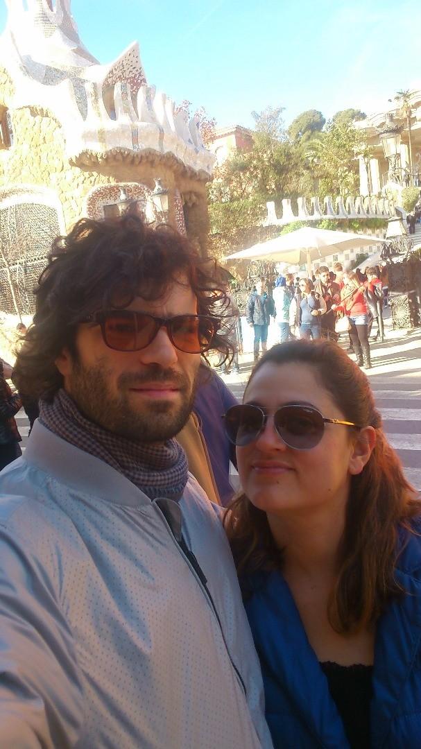 Марияна Добранова с приятеля си Георги Събев в любимия им град
