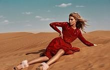 Риза DIANE VON FURSTENBERG от STYLEBOP.COM, рокля SCOTTACUS ANTHONY от SAXASTORE.NET, обувки MEVARA, гривна SWEET DELUXE