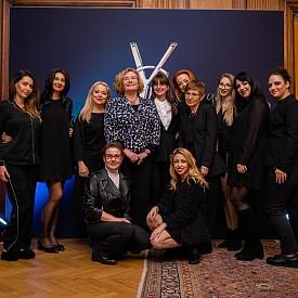 Българският екип на L'Oreal Lux, компанията, чиято собственост е марката YSL, с Н.Пр. г-жа Флоранс Робин