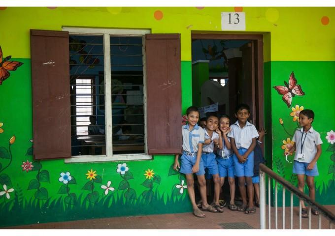 Деца в индийско училище