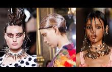 Най-екстравагантните прически от модните ревюта за пролет-лято 2018