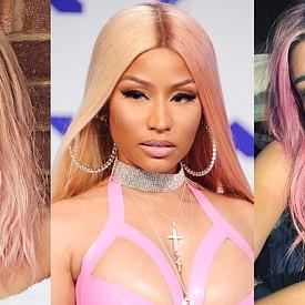 Розовите коси на звездите през 2018