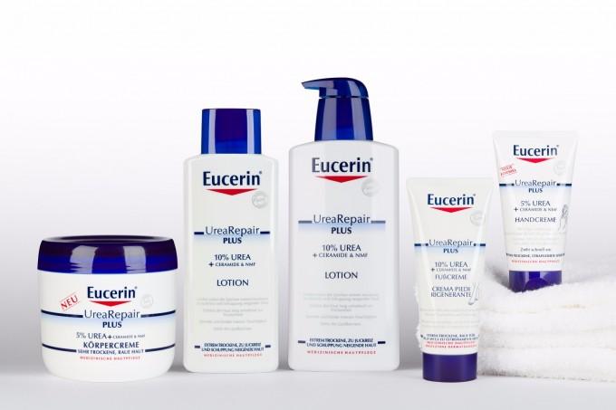 Продукти от серията Eucerin UreaRepair PLUS.