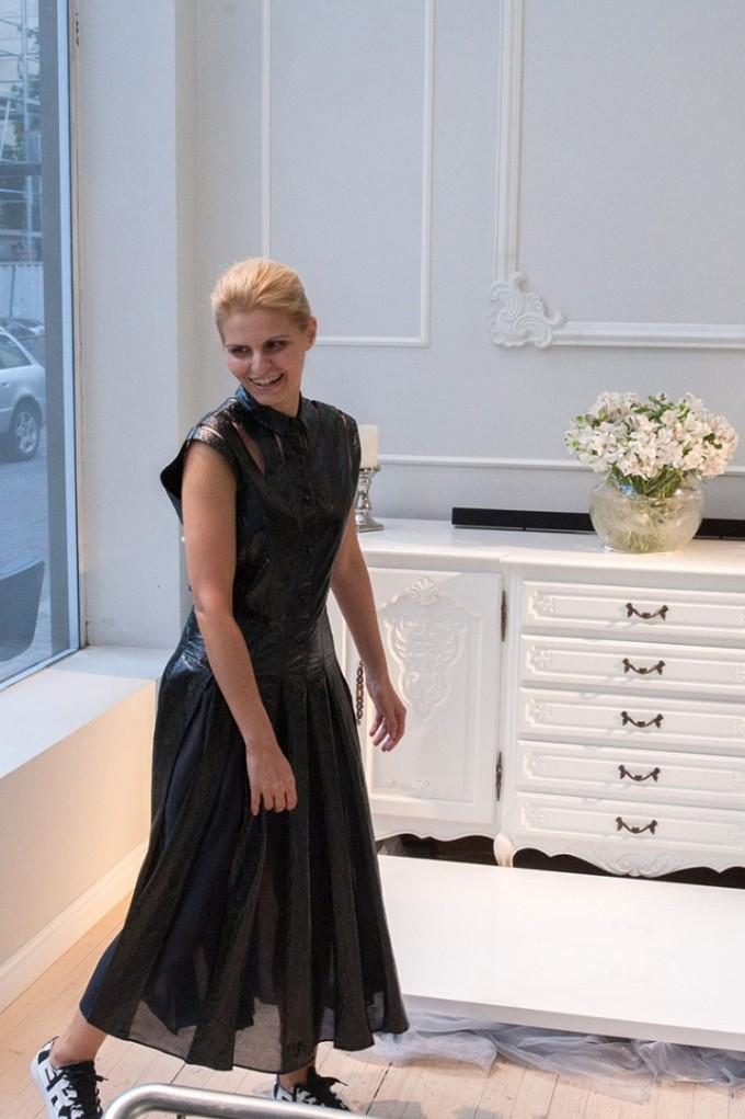 Дизайнерката Евгения Попова на представянето на едноименния си бранд