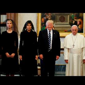 Семейство Тръмп и папа Франциск във Ватикана