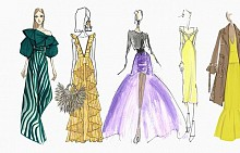 Модните скици на 17 нюйоркски дизайнери малко преди ревютата на новите им колекции