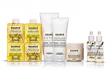 Продуктите от серията Source Essentielle на L'OREAL PROFESSIONNEL са с формула с между 80% и 100% висококачествени състваки с натурален произход и в рециклируеми опаковки