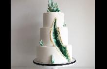 Геологията е новата тема тенденция в сватбените торти