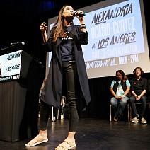 Александрия-Окасио Кортес по време на предизборната си кампания
