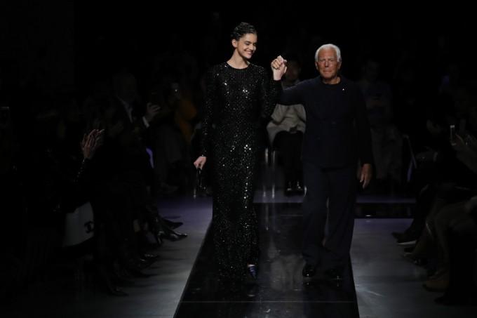 Тъмната красота на Giorgio Armani есен-зима 2019-2020 г.