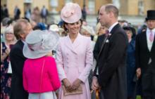 Кейт Мидълтън и принц Уилям на Кралското градинско парти в Бъкингам, 21 май 2019 г.