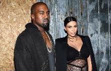 Ким и Кание на ревюто на Givenchy