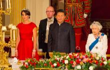 Херцогиня Катрин, китайският президент и Кралица Елизабет