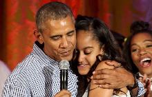 Барак Обама и дъщеря му Малия