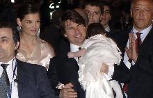 Кейти, Том и Сури след сватбата им
