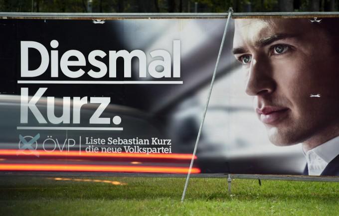 """Предизборната му реклама: """"Този път Курц"""""""