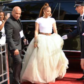 Джанет Джексън пристига на червения килим на Billboard Music Awards-2018