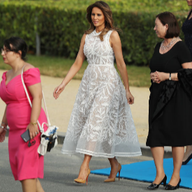 Мелания Тръмп облечена в рокля на Elie Saab