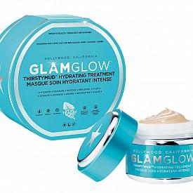 Хидратираща маска Thirstymud от GLAMGLOW с глина, хиалуронова, лимонена и линолова киселина. Може да се използва 2-3 пъти седмично. 99 лв.