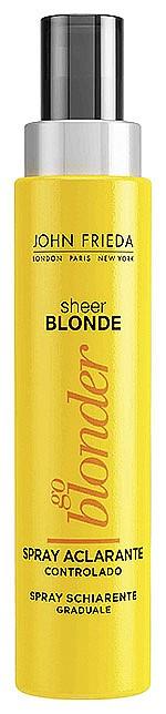 Ако сте блондинка, опитайте изсветляващия спрей за руса коса Go Blonder от серията Sheer Blonde на JOHN FRIЕDA. Защото блондинките винаги искат още, и още... С този спрей може да запазите естествения блясък на русата коса, целуната сякаш от слънцето. 100 мл, 25 лв.