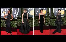 Черно, по-черно, най-черно: Визиите на червения килим на Златен глобус 2018