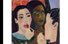 Картина на Simone Kennedy Doig от Baert Gallery в Лос Анжелис - една от творбите, представени в @guccibeauty