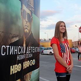 Уникална авто-кино премиера на покрива на мол в София