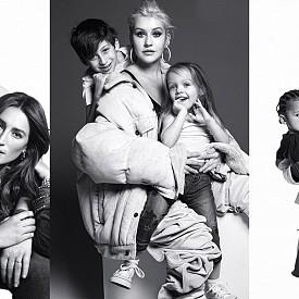 Кание Уест, Кристина Агилера и други звезди позират с децата си за Harper's Bazaar