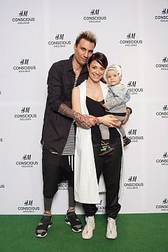 Мартен Роберто със съпругата си Джули и дъщеричката им Франки