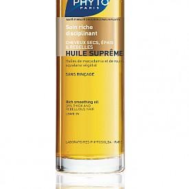 Масло с изглаждащо действие за копринено мека коса с растителни масла и екстракти Huile Supreme на Phyto, 54 лв.