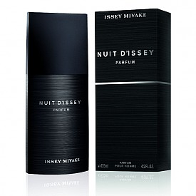 Nuit d'Issey EDP на Issey Miyake  След лансирането на последния мъжки аромат  Nuit d'Issey Eau de Toilette, Issey Miyake сега представя новата Eau de Parfum. Интензивен, решителен и магнетичен, ароматът се разкрива с връхни нотки на грейпфрут и розов пипер, акорди на кожа и ванилия, база на тонка бийн абсолю и пачули.