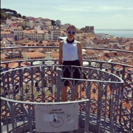 """На върха на асансьора """"Санта Жуста"""" в Лисабон"""