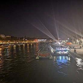 Река Сена през нощта
