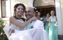 Лятна сватба през септември - Румънеца мина под венчило