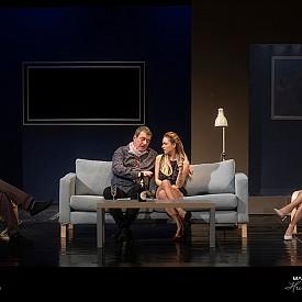 """Пиесата """"Иначе казано"""" разказва за вечерта, в която Даниел (Георги Кадурин) и съпругата му Изабел (Мариана Миланова) канят на гости своя приятел Патрик (Веселин Калановски) и младата му приятелка Ема (Рая Пеева), заради която той напуска съпругата си. Тази среща предизвиква ураган от размисли на теми като свободни ли сме в изборите си и докъде можем да стигнем, водени от желанието. Гледайте """"Иначе казано"""" на сцената на Младежкия театър """"Николай Бинев""""."""