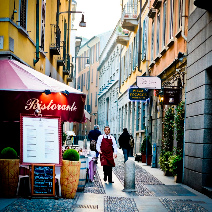 Типичен ресторант в района Брера в Милано