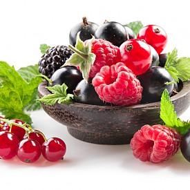 ПЛОДОВЕ Боровинки, ягоди, къпини, банани, лимони, 2 сезонни плода