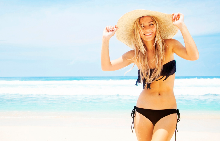 Без подут корем на плажа