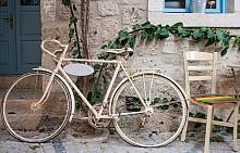 Винтидж колело  Трудно е да устоите на един чаровен ретро велоспиед, който може да позиционирате на терасата, в градината, дори в хола, за да носи винтидж стил на всичко у дома.