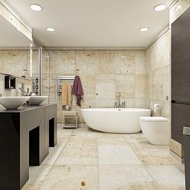 """""""Модерно излъчване на банята може да придадете с керамични плочки с триизмерна повърхност. Играта на светлината и сенките ще подчертае детайлите в помещението."""" Atlas Concorde"""